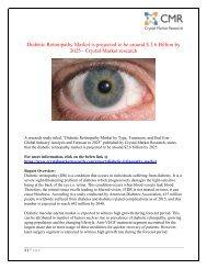 Diabetic Retinopathy Market - Industry Statistics Report 2025