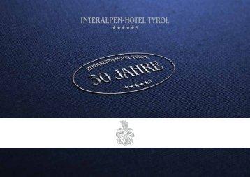 30 Jahre Jubiläumsbroschüre | 30 years of the hotel's history