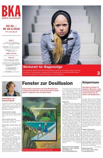 Berner Kulturagenda 2018 N°7