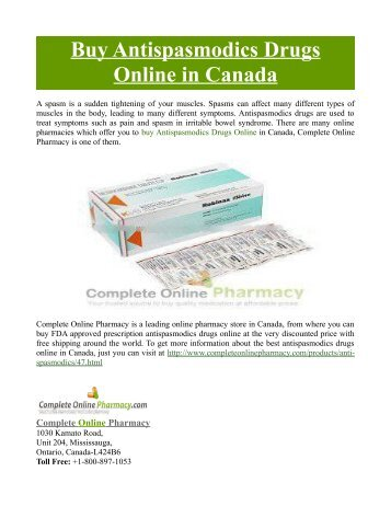 Buy Antispasmodics Drugs Online in Canada