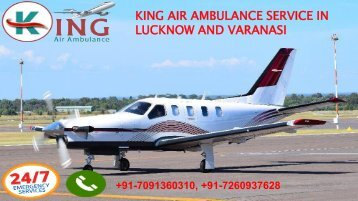 king air ambulance service in lucknow and varanasi