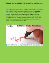 Dial 1800-102-2707 to Avail HRM Software Services - www.gethrm.com