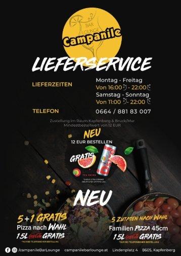 Campanile Speisekarte Februar 2018