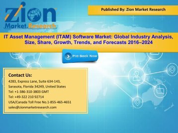 Global IT Asset Management (ITAM) Software Market, 2016–2024