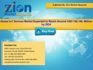 Global IoT Devices Market, 2016 – 2024
