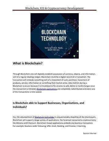 Blockchain, ICO and Cryptocurrency Development Company