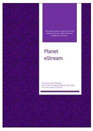 Planet eStream User Guide