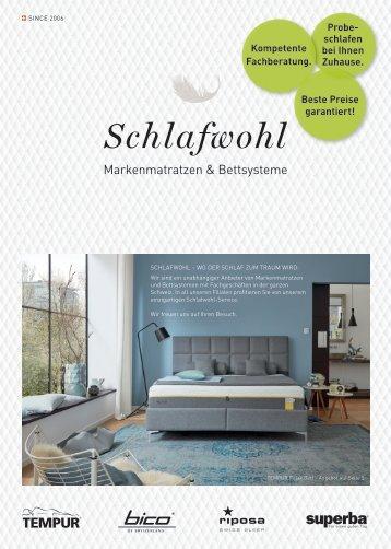 Schlafwohl Broschüre Frühling 2018