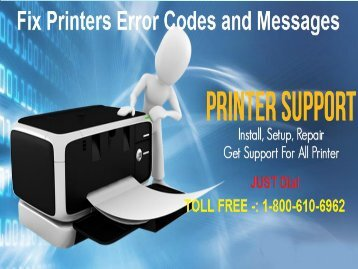 Fix Printers Error Codes and Messages