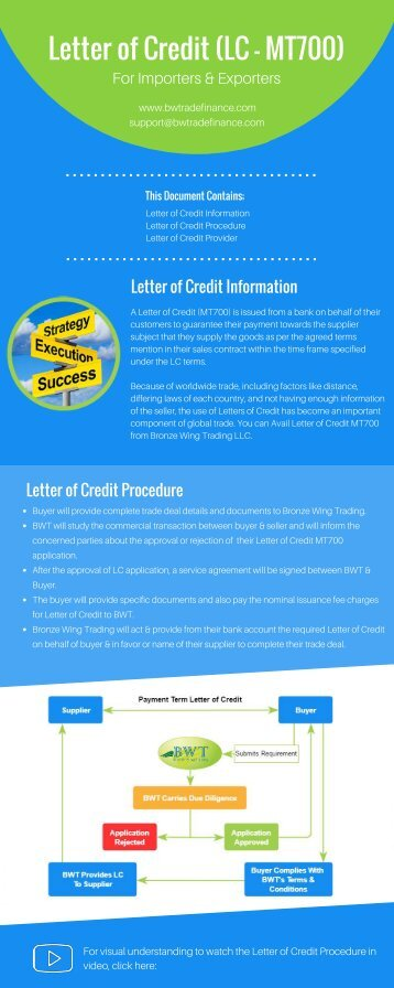 Letter of Credit (LC - MT700)