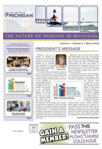 Future of Nursing in Michigan - March 2018