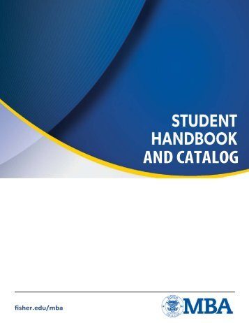 MBA Catalog and Student Handbook