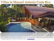 Villas in Manuel Antonio Costa Rica