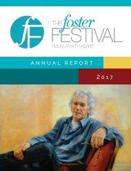 Foster Festival Annual Report 2017