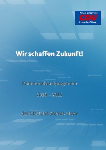 Wir schaffen Zukunft!Internetfassung - CDU Kreis Kleve