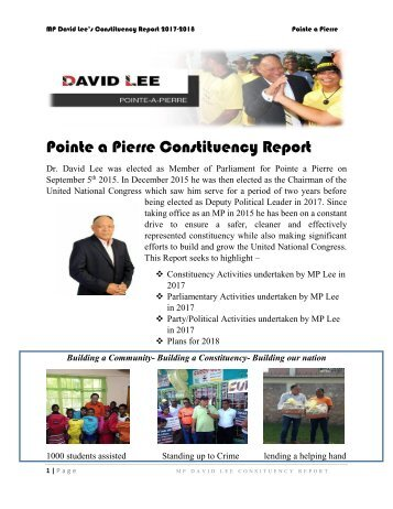 Pointe a Pierre Constituency Report 2017