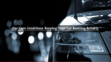 Keeping Your Car Running Reliably