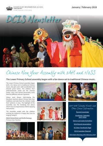 DCIS Newsletter January February 2018