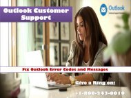 1-800-243-0019 Fix Outlook Error Codes and Messages
