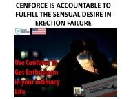 CENFORCE IS ACCOUNTABLE TO FULFILL THE SENSUAL DESIRE