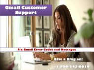 1-800-243-0019 Fix Gmail Error Codes and Messages