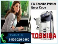 Fix Toshiba Printer Error Code