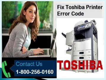 Fix Toshiba Printer Error Code