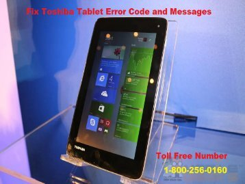 Fix Toshiba Tablet Error Codes