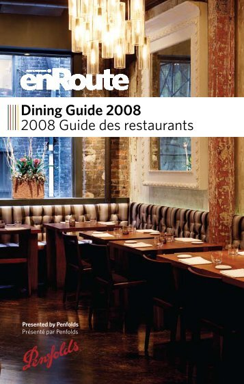Dining Guide 2008 2008 Guide des restaurants - enRoute