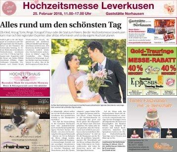 Hochzeitsmesse Leverkusen  -21.02.2018-