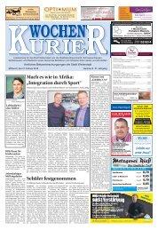 Wochen-Kurier 8/2018 - Lokalzeitung für Weiterstadt und Büttelborn