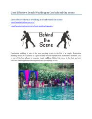 Cost Effective Beach Wedding in Goa behind the scene