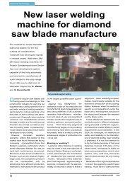 New laser welding machine for diamond saw blade ... - Dr. Fritsch