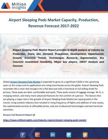 Airport Sleeping Pods Market Capacity, Production, Revenue Forecast 2017-2022