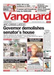 21022018 - APC CRISIS LATEST :Governor demolishes senator's house