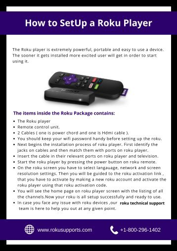 How to Setup Your Roku Player Easily