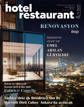 HOTEL RESTAURANT  MAGAZINE ŞUBAT 2018 SAYISI