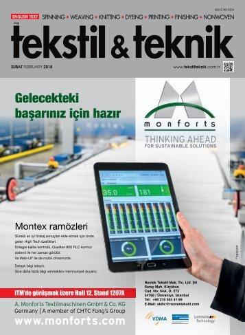 Tekstil Teknik Dergisi Şubat 2018 Sayısı