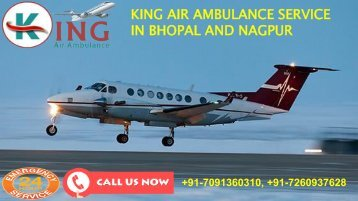 king air ambulance service in Bhopal and Nagpur