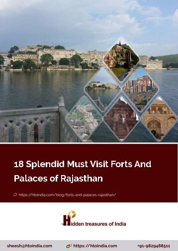 18 Splendid Must Visit Forts And Palaces of Rajasthan
