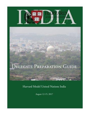 2017-HMUN-India-Delegate-Preparation-Guide