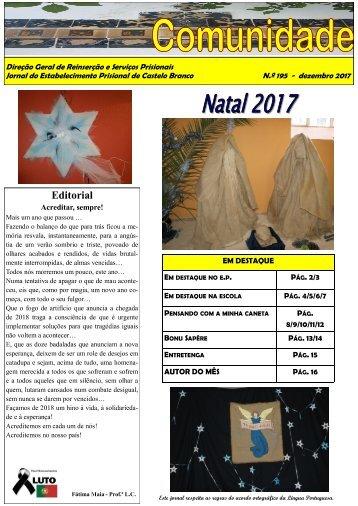 Jornal 195. Comunidade. EPCB