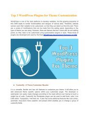 Top 3 WordPress Plugins for Theme Customization