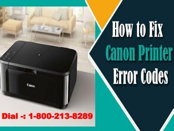 Fix Canon Printer Error Code and Messages