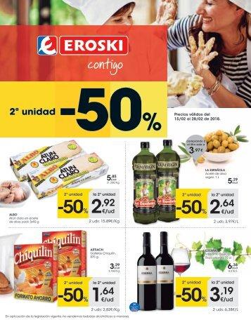Hipermercados EROSKI ofertas hasta 28 de febrero 2018