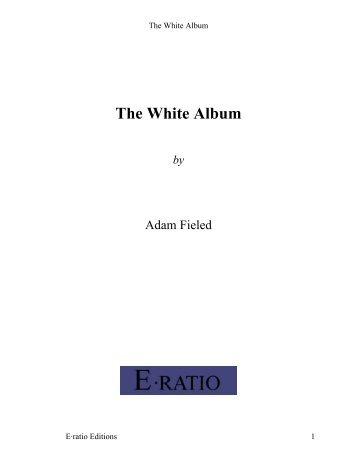 Eratio Editions: The White Album