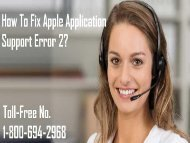 1-800-694-2968 How To Fix Apple Application Support Error 2?