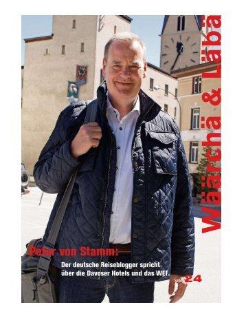 Peter von Stamm Interview Davoser Zeitung