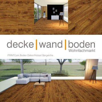 dwb Produktinformation PrintCork Boden Bergeiche