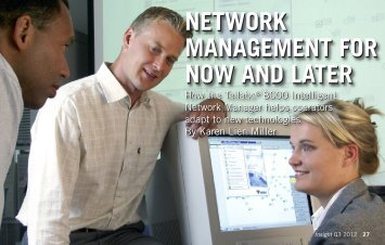 Network Management for Now and Later - Tellabs